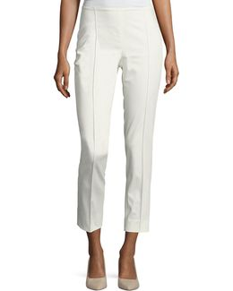 Cropped Side-zip Ankle Pants