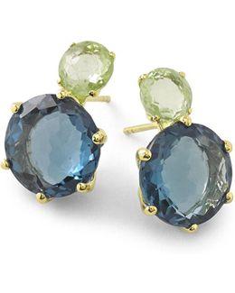 18k Rock Candy 2-stone Post Earrings