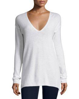 Agnia Cashmere V-neck Sweater