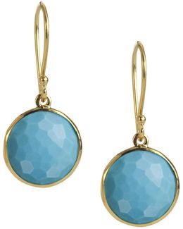 Mini Lollipop Earrings In Turquoise