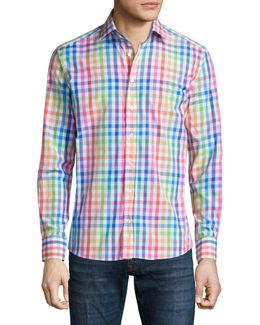 Multicolored Check Sport Shirt