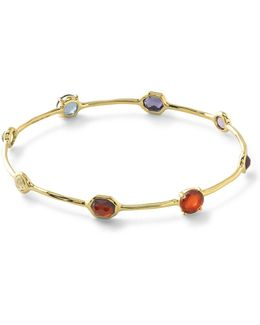 18k Rock Candy 8-stone Bangle In Flirt