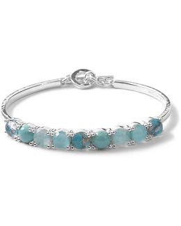 Wonderland Toggle Bangle Bracelet In Turquoise/amazonite