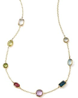 18k Gold Rock Candy Mini Gelato Station Necklace In Tartan