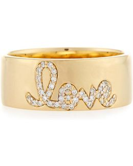 Pavé Diamond Love Ring