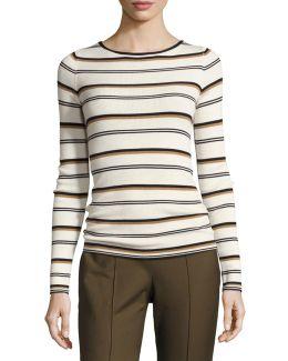 Mirzi M Refine Merino Wool Striped Sweater