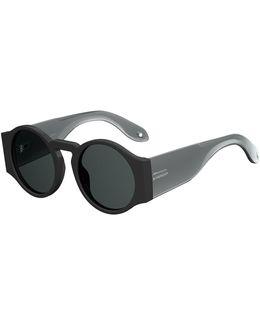 Round Wrap-style Sunglasses