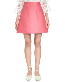 Stiff Linen A-line Skirt