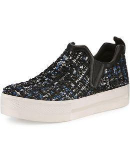 Joy Tweed Platform Skate Sneaker