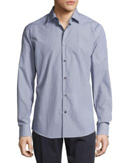 Mini-gancini Long-sleeve Cotton Shirt