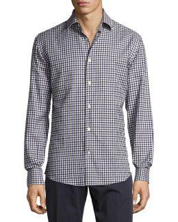 Cotton Check Sport Shirt