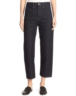 High-rise Utility Cropped Denim Jeans
