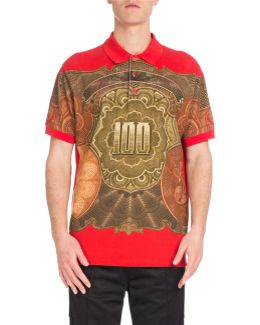 Columbian-fit Money-print Polo Shirt