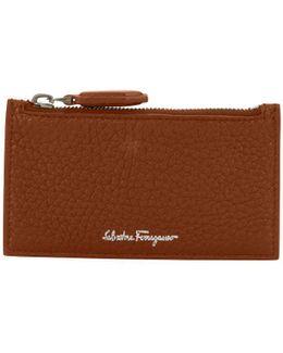 Firenze Leather Zip-top Card Case