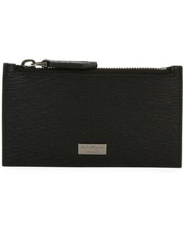 Revival Leather Zip-top Card Case