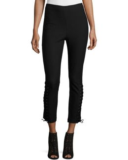 Laced Stretch Ponte Leggings