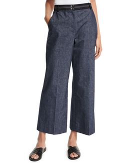 Hudson Cropped Wide-leg Trousers