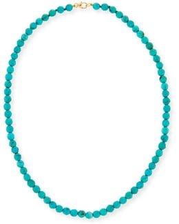 Sleepy Beauty 5mm Beaded Turquoise Necklace