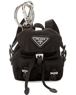 Vela Backpack-shaped Handbag Charm/keychain