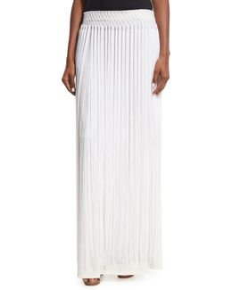 Long Fringe Maxi Skirt