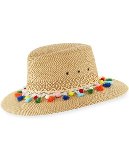 Bahia Squishee Packable Sun Fedora Hat