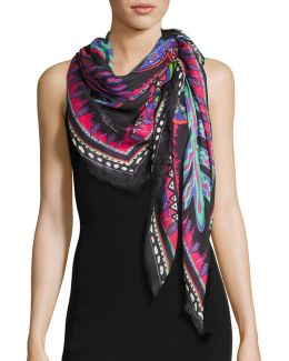 Square Voile Voodoo Scarf