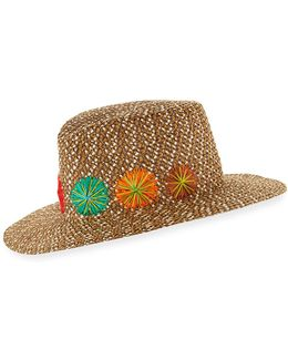 Zanzibar Packable Squishee Sun Fedora Hat