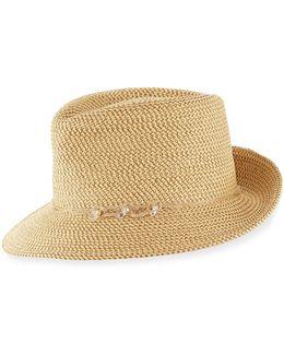 Mustique Squishee Packable Sun Fedora Hat