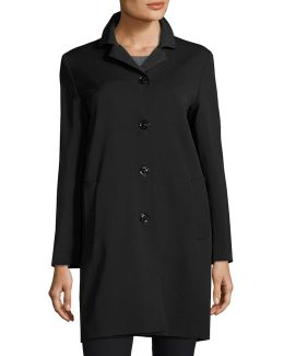Wool-bend Four-button Coat