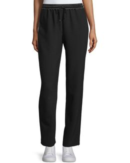 Collier Silk-trim Track Pants