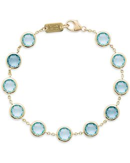 18k Lollipop Swiss Blue Topaz Bracelet