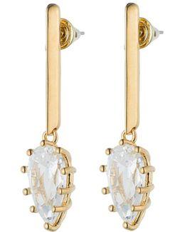 Glint Crystal Drop Earrings