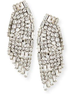 Cascading Crystal Smoking Earrings