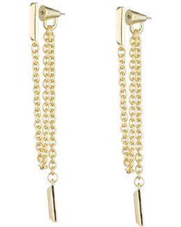 Draped Chain Bar Earrings