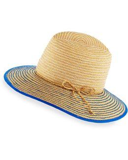 Starburst Raffia Short-brim Sun Hat