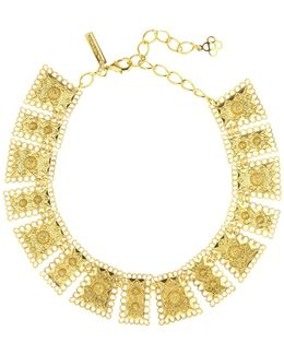 Golden Scalloped Edge Necklace