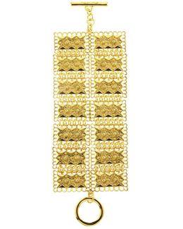 Golden Scalloped Edge Bracelet