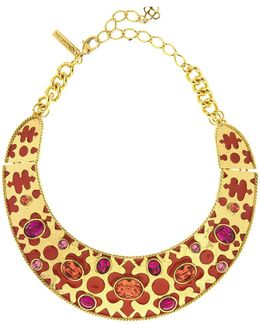 Crystal & Resin Collar Necklace