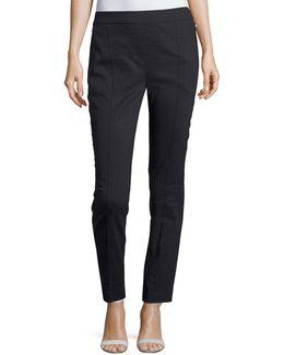Arabella Stretch-linen Straight-leg Pants