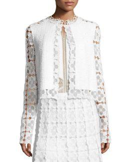 Annabella Textured Lace-panel Jacket