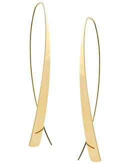 Bond Large Narrow Glam Thread-through Hoop Earrings