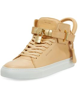 Men's 100mm Leather Mid-top Sneaker