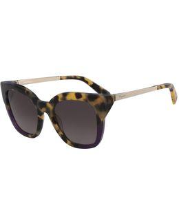Gradient Square Cat-eye Sunglasses