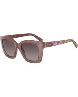Printed Gradient Square Sunglasses