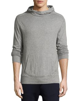 Ribbed Modal-pima Cotton Hoodie