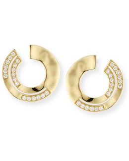 18k Sensotm Staggered Diamond Small Earrings