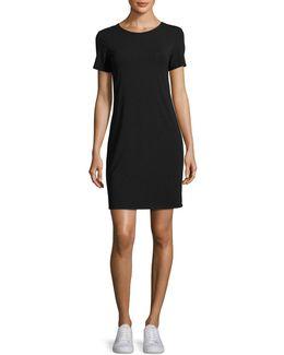 Luchia Twist-back Rubric Jersey T-shirt Dress