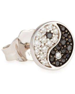 Yin Yang Stud Earring With Diamonds