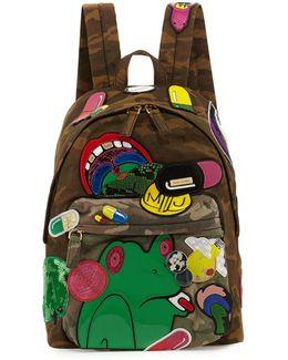 X Julie Verhoeven Camo Embellished Biker Backpack