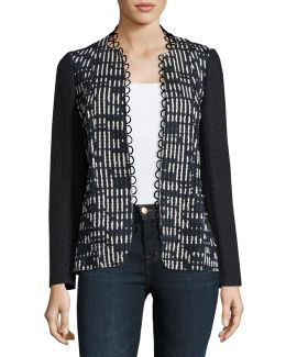 Greer Lace-trim Textured Jacket